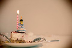 Some decades of birthdays. We should never (ever) forget our inner (Lego) child. (LegoScenes) Tags: lego minifigures legochild innerchild legoscenes cake birthday happybirthday cheesecake macro legomacro legography