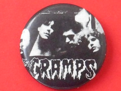VINTAGE CRAMPS BADGE (psychocandy65) Tags: badge button pin punk music rock cramps lux ivy nick bryan voodoo psychobilly