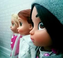 Cutiest noses in the world (ArtCat80) Tags: doll disney disneystore animators collection jasmine belle rapunzel portrait