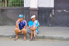 Watching and Waiting (Beegee49) Tags: street men sitting pavement thinking watching surveying sony a6000 luminar happy planet silay city philippines asia