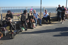 Sat at the Seafront (kevin Akerman) Tags: wall sditting festival elvis porthcawl seafront beach