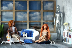 the beachhouse guests (photos4dreams) Tags: theredheadsp4d barbie doll puppe mattel photos4dreams p4d photos4dreamz red rot readhead long hair lange haare toy dress barbies girl play fashion fashionistas outfit kleider mode kayla morgaine cateblanchettooakdollp4d cateblanchett movie film stepmother stiefmutter tremaine faceup makeup dollmakeupartist puppenstube tabletopphotography cinderella ooak oneofakind upgrade dolldesigner design custom repaint