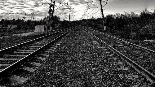 Rails. For the horizon ©  Sergei F