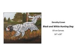 "Black and White Hunting Dog • <a style=""font-size:0.8em;"" href=""https://www.flickr.com/photos/124378531@N04/46790295741/"" target=""_blank"">View on Flickr</a>"