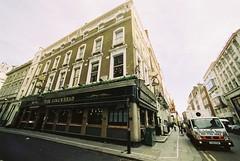 The King's Head (goodfella2459) Tags: nikonf4 afnikkor14mmf28dlens cinestill50 35mm c41 film analog london pub building city streets thekingshead