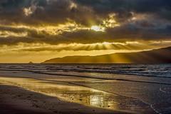 Crepuscular Rays at Waikanae Beach, NZ (David Hamments) Tags: rays sun waikanaebeach sunset crepuscularrays flickrunitedaward
