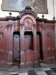 Wooden confessional, Cathédrale Saint-Aubain, Namur, Belgium (Paul McClure DC) Tags: namur namen belgium belgique wallonia wallonie ardennes feb2018 cathedral historic architecture sculpture