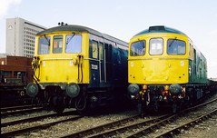 33047 + 73128 Ashford (Wayne M Walsh) Tags: class33 class73 ashford kent 33047 73128 crompton ed railway train nikon coolscan diesel electric dieselelectric locomotive