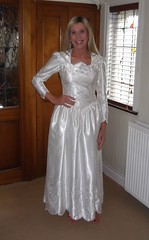 My 3rd Wedding Dress. 10th February 2019 (paula_1558) Tags: wedding gown bride costume blonde smile