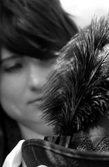 Fancy Hat (skippyclese) Tags: cosplayamerica 2017 cosplay america cosplayer costume anime japan had plume crossplay bw blackwhite black white blackandwhite outside outdoors portrait sunlight chapel hill nc north carolina nikon d810 sigma art 50