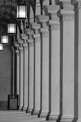 Old Texaco Building (Henricus) Tags: texacobuilding houston pillars columns aristapremium400 kodakhc110b meta35 canon1v canon20028