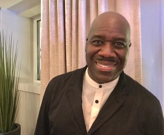 Renowned jazz vocalist Will Downing at the VIP party after the concert w