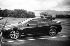 2008 Holden Commodore SS... (Matthew Paul Argall) Tags: kodakstar500af 35mmfilm ilforddelta100 100isofilm blackandwhite blackandwhitefilm car vehicle automobile transportation holden holdencommodore sedan familysedan