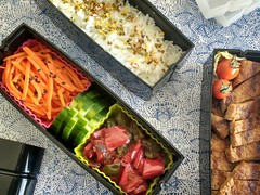 Bento 661 (Sandwood.) Tags: bento lunch lunchbox cooking food meal dish vegetables salad pork rice furikake