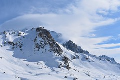 Misty Mountain (Tako Khinchakadze) Tags: snow winter mountains mountain blue sky clouds tetnuldi svaneti skiresort skiing georgia landscape nature sunny misty magnificent