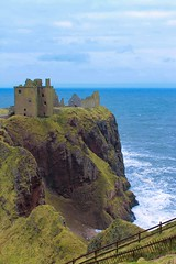 6/7 (Simone If) Tags: sea hill cliff scotland mountain seashore seascape landscape nature hiking aberdeen dunnottar castle uk united kingdom green blue waves person back travel photograpgy film explore cinematography canon 1100d eos colors