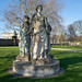 THREE STATUES ON AN INAPPROPRIATE PLINTH [KINGS INNS PUBLIC PARK]-149629