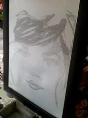 Rostro de mujer hermosa (elartistadelamaquinadeescribir) Tags: manualidad diseño dibujo dibujar dibujos dama mujer hermosa maquinadeescribir mecanografia