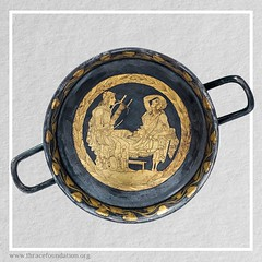 Ancient Kylix cup with the image of Orpheus from the Vassil Bojkov Collection (thracefoundation) Tags: ancient art vassilbojkovcollection mythology thrace ancienthistory artifact artefact history thracefoundation ancientgreece kylixcup kylix