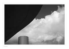 Clouds & Surfaces (Michael Fleischer) Tags: copenhagen nørreport metro clouds surface gradient tones blackwhite monochrome abstract lines weather mood curve architecture timeless tube