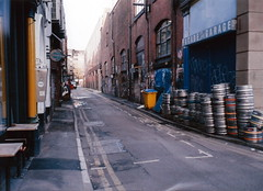 Manchester (1061) (benmet47) Tags: street city urban barrels graffiti film olympus mju compact mju2 olympusmju2compact canoscan9000f