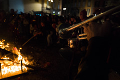 Naples, Piazza del Gesù 2019 (Umberto Lucarelli) Tags: carnival fire bonfire trumpet streetphotography