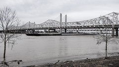 Barge and Bridges, Louisville 3/13/19 (Sharon Mollerus) Tags: cfptig19