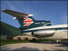 G-AWZK Hawker Siddeley HS-121 Trident 3B British European Airways (elevationair ✈) Tags: man egcc bea britisheuropeanairways hs121 trident trident3b hawkersiddeleyhs121trident3b gawzk zulukilo avgeek aviation airplane plane display avp rvp manchesterairport trijet threeholer beahighsppedjack highspeedjack retro