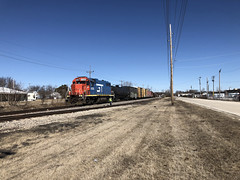 CN at Great Lakes Naval Base North Chicago IL March 25 2019 (Tom J. Burke) Tags: eje cn northchicago lakebluff railroad train