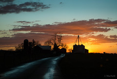 blue lane (Jen MacNeill) Tags: weather lancaster county country rural pa pennsylvania countryside cold front storm evening sun set sunset colorful farm barn sky skies clouds
