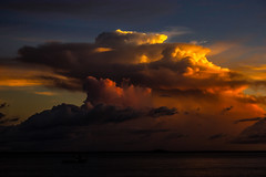 Stormclouds @ Sunset (Markus Branse) Tags: dusk seen from stokes hill wharf darwin northern territory australia sunset abendstimmung abend evening tropen abendrot rot rood red roughe night sun sonnenuntergang sol wolken wetter weather australien aussie oz australie austral cloud clouds cloudy himmel heaven sky idylle stadt city