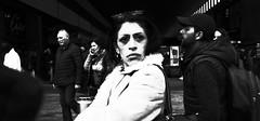 Playing hard to get!! (Baz 120) Tags: candid candidstreet candidportrait city contrast street streetphotography streetphoto streetcandid streetportrait strangers rome roma ricohgrii europe women monochrome monotone mono noiretblanc bw blackandwhite urban life portrait people italy italia grittystreetphotography faces decisivemoment