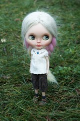 Cloudy Day Dolls (Chassy Cat) Tags: silversnow sbl puppelina sliver snow blythe custom customized doll chassycat takara eyebrows teeth weepingbeauty alpaca reroot fantasy scalp