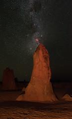 Carina Nebula - Pinnacles Desert, Western Australia (inefekt69) Tags: carina nebula pinnacles desert night sky stars space milky way coal sack western australia nikon d5500 panorama hoya red intensifier filter didymium