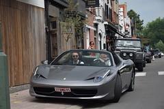 Ferrari 458 Spider (D's Carspotting) Tags: ferrari 458 spider belgium knokke grey 20180527 1fbm695