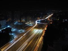 Light trails (1deabbas) Tags: night livecomp light traffic cars city road olympus omd nightshot longexposure slowshutter nightlights
