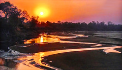 AFRICA - Sunset (Jacques Rollet (very little available)) Tags: africa sunset sun soleil rivière sky reflexion reflection river ciel groupenuagesetciel