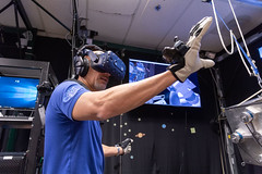 Spatial senses (europeanspaceagency) Tags: humanspaceflightimageoftheweek esa europeanspaceagency space universe cosmos spacescience science spacetechnology tech technology lucaparmitano ar vr virtualreality beyond mission beyondmission astronaut