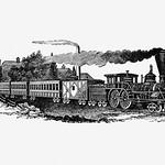 Vintage steam train illustration thumbnail