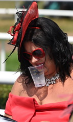 Liquid Diet (Vide Cor Meum Images) Tags: mac010665yahoocouk markcoleman markandrewcoleman videcormeumimages vide cor meum market rasen races courses race candid female ladies day d750 nikon nikkor28300 street streetphotography hat hats glasses red lincolnshire england english horses horse jockey club