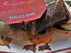 HMM ~ Brew edition (karma (Karen)) Tags: macromondays brew hmm teabag tag bigelow texture htt cmwd