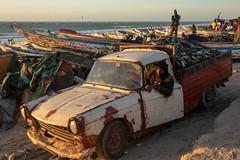 Smells like fish (s_andreja) Tags: mauritania nouakchott sunset sea ocean people boat fishermen sky water bird fishing