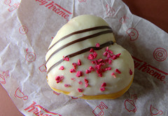 Krispy Kreme - RASPBERRY ROMANCE HEART (Tony Worrall) Tags: add tag ©2019tonyworrall images photos photograff things uk england food foodie grub eat eaten taste tasty cook cooked iatethis foodporn foodpictures picturesoffood dish dishes menu plate plated made ingrediants nice flavour foodophile x yummy make tasted meal nutritional freshtaste foodstuff cuisine nourishment nutriments provisions ration refreshment store sustenance fare foodstuffs meals snacks bites chow cookery diet eatable fodder ilobsterit instagram forsale sell buy cost stock valentines sweet day treat sugar love lovely heart shape