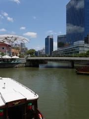 SingaporeRiverColonialDistrict013 (tjabeljan) Tags: singapore asia colonialdistrict singaporeriver colemanbridge oldparliament fullertonhotel themelrion raffles victoriatheatre clarkquay marinabay
