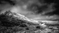 Light... (Einir Wyn Leigh) Tags: landscape light sky blackandwhite mountain snow winter storm rugged raw outside love home mono nikon wales snowdonia rural