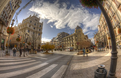 #233 (mariopolicorsi) Tags: photomatix mariopolicorsi canon eos 700d fisheye samyang 8mm occhiodipesce hdr hdraward simplysuperb città city citylife clouds nuvole strada street granada architecture architettura autunno autumn andalusia spagna spain photoshop photography photo foto fotografia 2018 november novembre