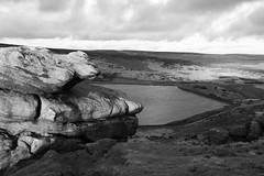 Widdop reservoir, near Hebden (Richard Needham) Tags: widdop reservoir blackandwhite sky landscape yorkshire