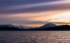 Colored sky over the swiss alps (Hegglin Dani) Tags: zug zugersee lakezug clouds wolken eveningmood abendstimmung afterglow abendrot sunset sonnenuntergang alpen swissalps