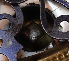 Macro Mondays - Timepiece (brucekester@sbcglobal.net) Tags: macromondays timepiece keyhole keywind wind clock