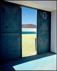 La Graciosa, Lanzarote (AntoineLegond) Tags: lanzarote landscape stadium volcano 65mm flash kodak portra film analogue spain lagraciosa mamiya7ii canaryislands
